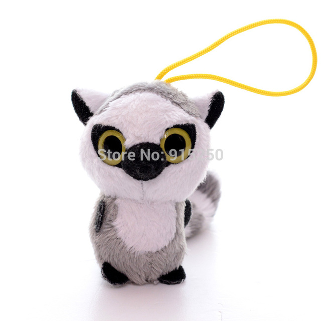 61c0f36acbe Official South Korea Cute 3   YOOHOO Plush African lemurs Animal Key Chain Toy  Dolls Stuffed Toys Free Shipping  LN