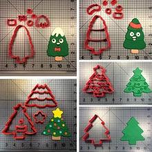 christmas tree series cookie cutter set kinds of trees custom made 3d printed sugar fondant cupcake - Kinds Of Christmas Trees