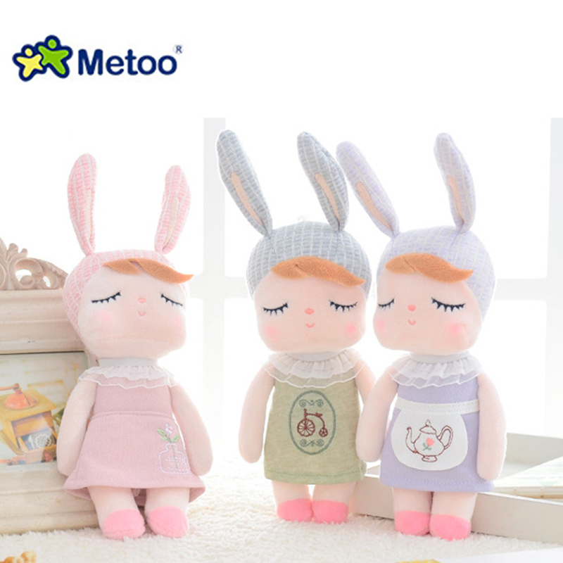Kawaii Plush Stuffed Animal Cartoon Kids Toys for Girls Children Baby Birthday Christmas Gift Angela Rabbit Girl Metoo Doll rabbit plush keychain cute simulation rabbit animal fur doll plush toy kids birthday gift doll keychain bag decorations stuffed