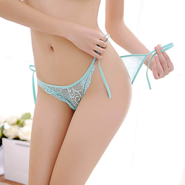 placeholder Sexy Lingerie.Hot Selling Cute Women Sexy Lace V-string Briefs  Panties Thongs G