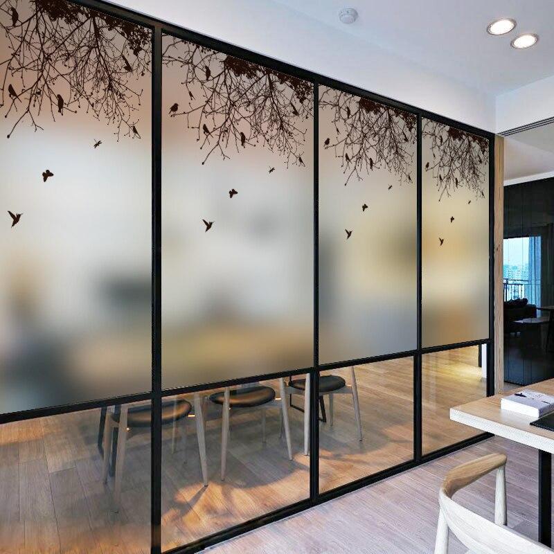 75*200 H CM film de fenêtre en verre teinté films décoratifs porte coulissante salle de bain baignoire statique auto-adhésif