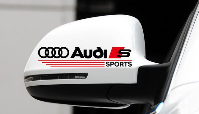 Transparent Automobile Sticker With Audi Logo