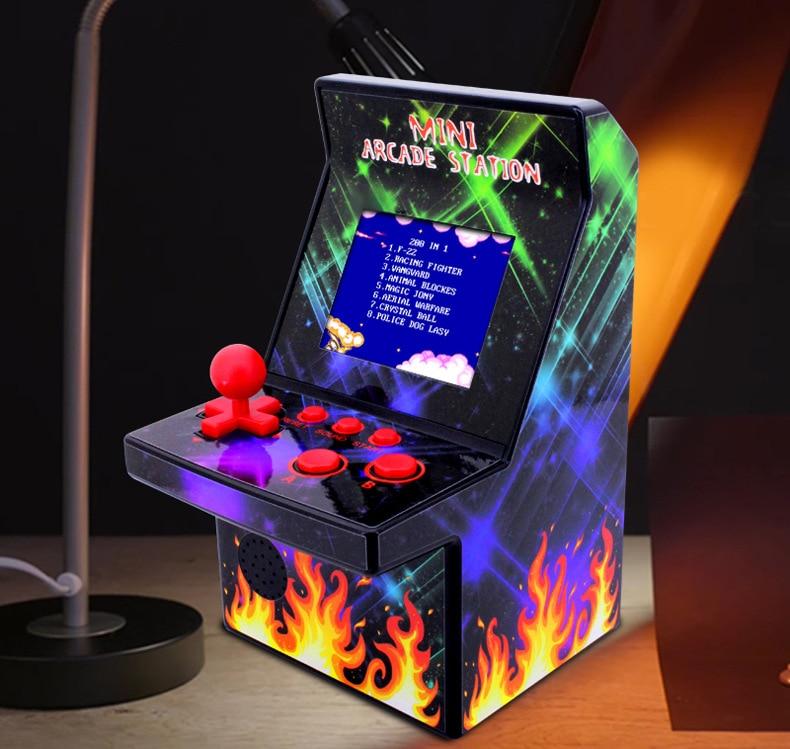 2,5 tragbare 8 Bit Mini Retro Arcade Station Handheld Spiel-player Spielkonsole 1 Player Gebaut In 200 Klassische Münze Spiele Unterhaltungselektronik