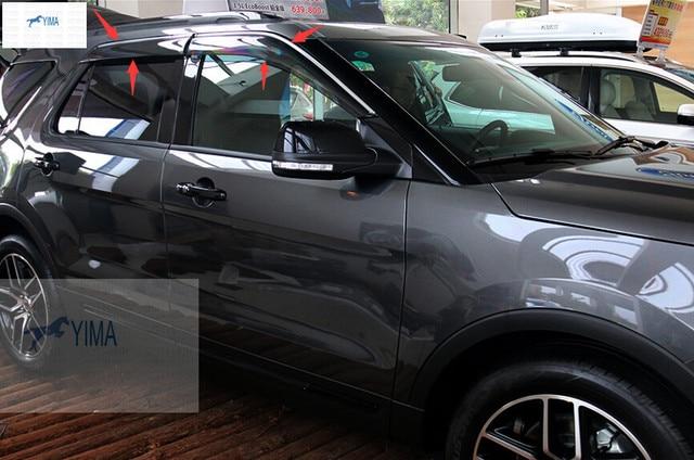 Новый Стиль! для Ford Explorer 2016 Окно Ветер Дефлектор Козырек Дождь Щит Гвардии Vent Козырьки Навесы