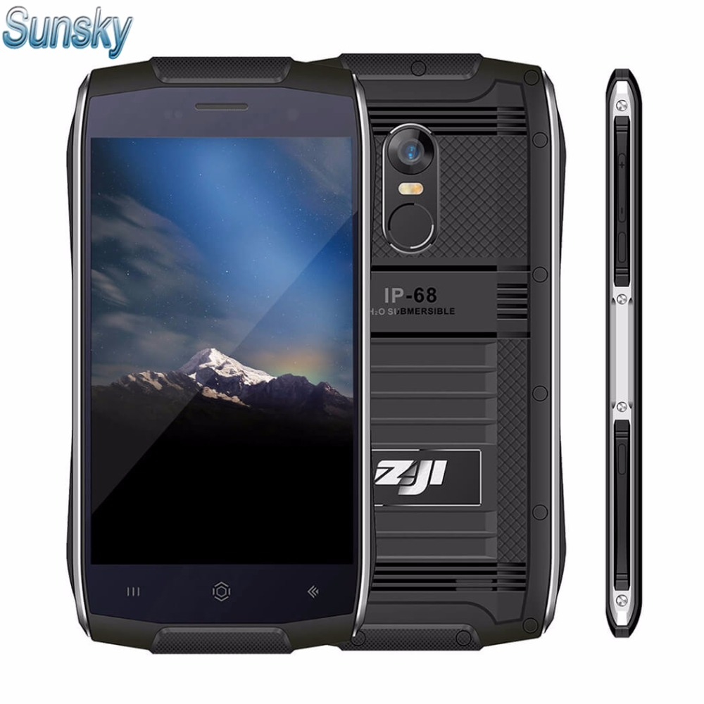 Цена за Homtom zoji z6 ip68 водонепроницаемый 4.7 дюймов ips android 6.0 смартфон MKT6580 Quad Core 1 ГБ RAM 8 ГБ ROM Отпечатков Пальцев 3 Г Мобильный Телефон