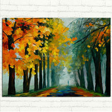 Handpainted Abstract Modern Wall Painting forest landscape Palette Knife Oil Painting On Canvas Wall Decor Home Decoration