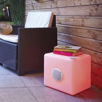 40CM LED cube chair stool with Bluetooth music player