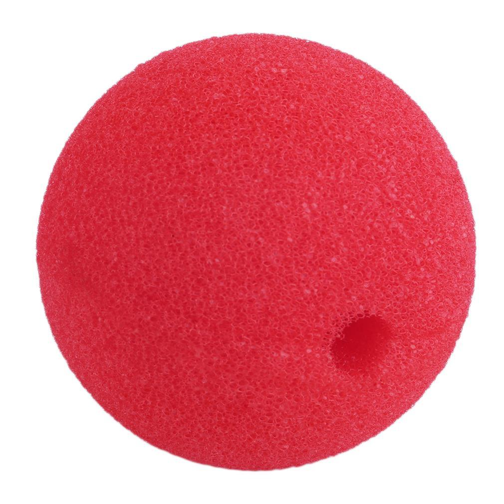 OCDAY 1 pc Red Foam Nose Adorable Red Ball Foam Circus Clown Nose Comic Party Halloween Costume Magic Dress Toys for Children