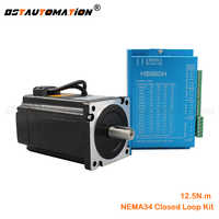 Hybird closed loop Nema 34 servo motor 86HB250-156B HB860H Closed-loop stepper motor 12.5N.m Nema34 86 2-phase step motor driver