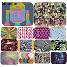 купить Hongbo Flannel Colorful Geometric Flower Anti-Slip Suede Carpet Door Mat Doormat Outdoor Kitchen Living Room Floor Mat Rug по цене 191.49 рублей