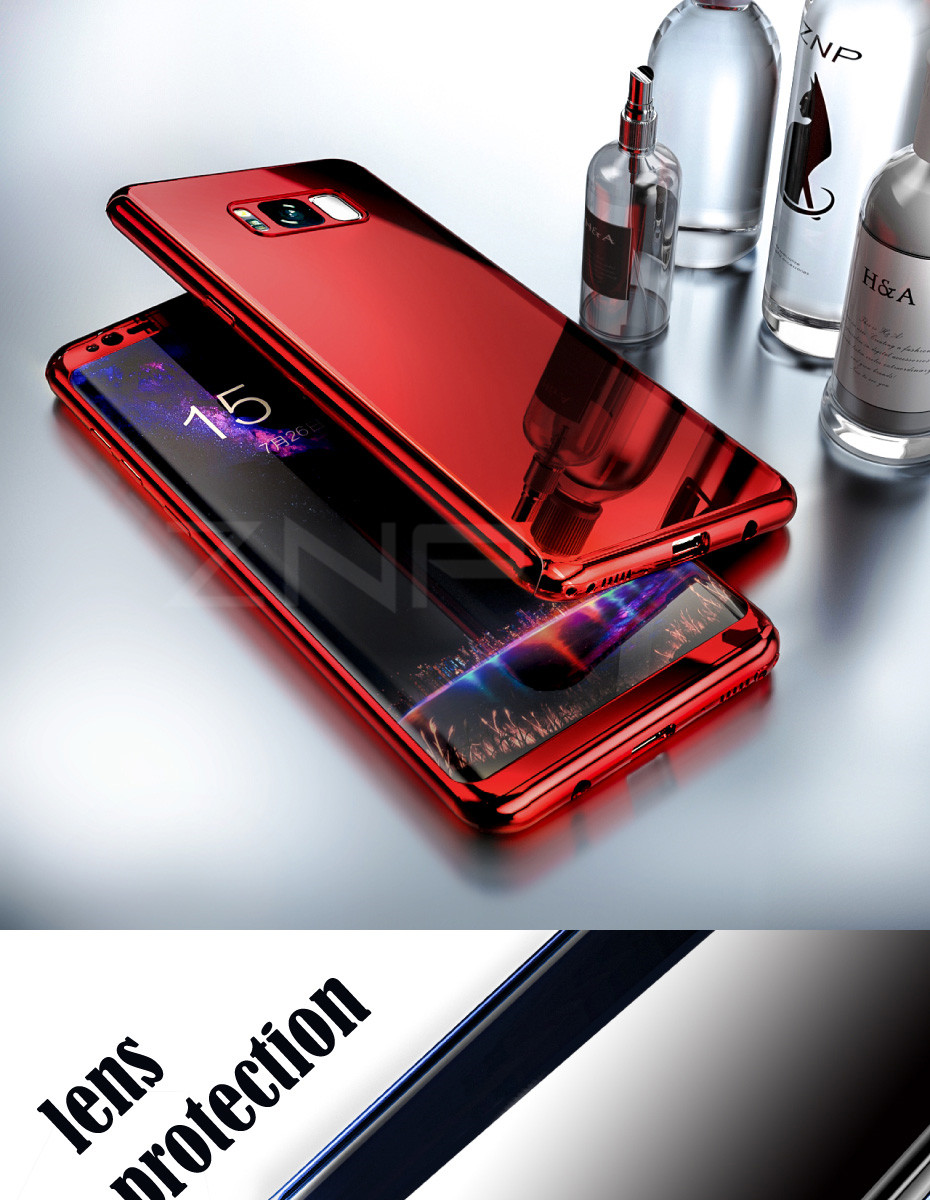 360 Degree Bling Mirror Phone Samsung Galaxy S7 Edge Note 8 Cover Cases For Samsung S8 S9 Plus S7 S8 S9 Case