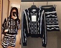 Германия Гамбург коллекция пуловер женский свитер и юбка комплект из 2 предметов удивительные тянуть femme hiver элегантный Рождественский свит