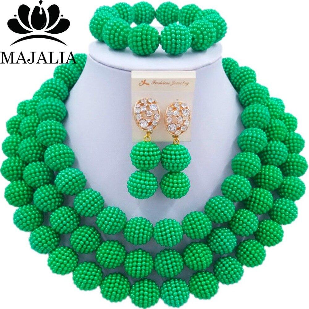 Fashion african jewelry set green Plastic Nigeria Wedding african beads jewelry set Free shipping Majalia-215Fashion african jewelry set green Plastic Nigeria Wedding african beads jewelry set Free shipping Majalia-215
