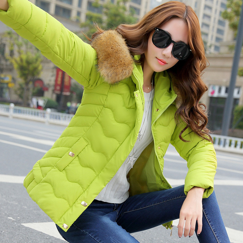 New Winter Jacket Women Short Cotton Coat Slim Plus Size Thick Padded Jackets Female Hooded Parka Fashion Fur Collar Coat C1152 high quality new winter jacket parka women winter coat women warm outwear thick cotton padded short jackets coat plus size 5l41