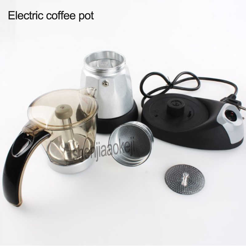 Электрический бытовой эспрессо кофейник пищевой алюминий + акриловая плита кофейник кафе мокко горшок 220 В 480 Вт 1 шт.