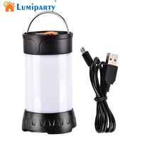 LED Camping Lantern Flashlight USB Rechargeable Tent Lamp Light 5 Modes Outdoor Lantern With Magnetic Base