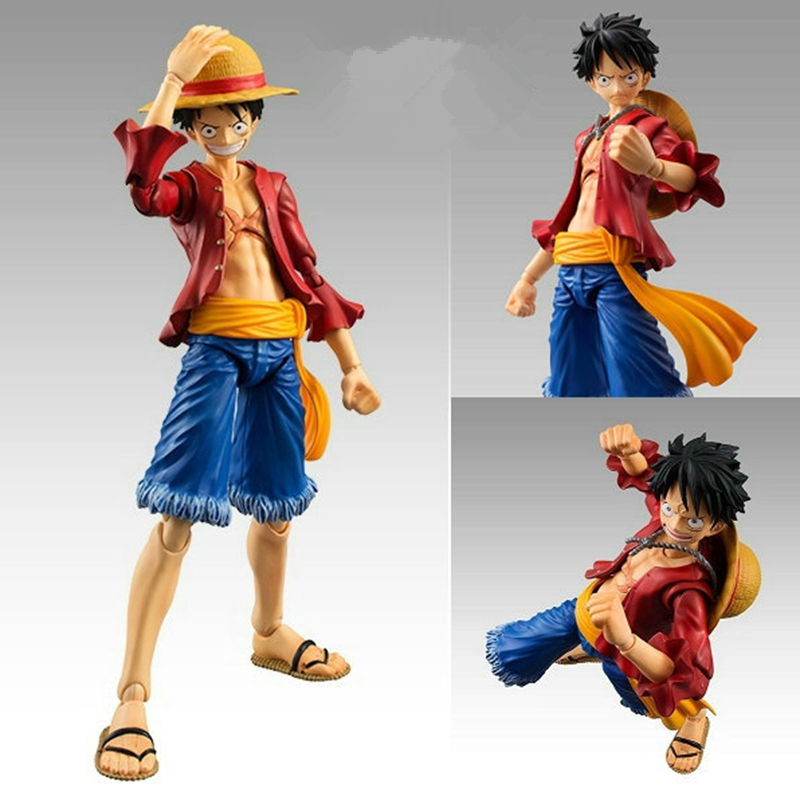 Hot sale new Action Luffy Movable joint Anime Cosplay One Piece Monkey Luffy Action Figures Model Collection free shipping new hot 18cm one piece donquixote doflamingo action figure toys doll collection christmas gift with box minge3