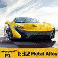 3 Colors 1:32 Mclaren P1 Metal Diecast Model Car Toys For Children Boys Miniature Sound and Light Model Car Gift with Simple Box