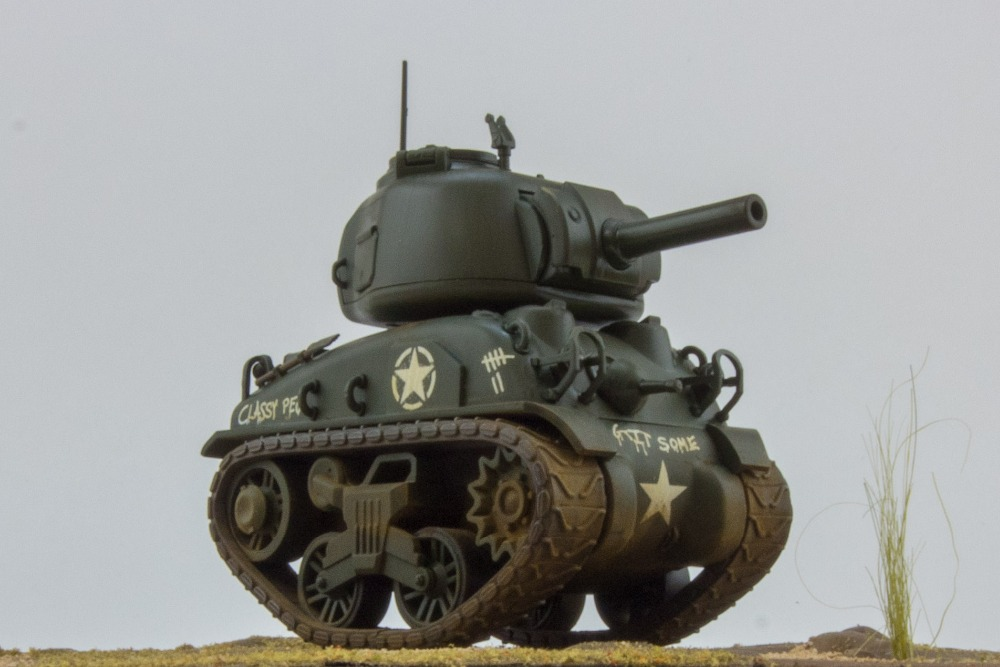 Meng World War Toons M4A1 Sherman WWT002 Sherman US Medium <font><b>Tank</b></font> M4A1 DIY Assembling Building Kits Model image