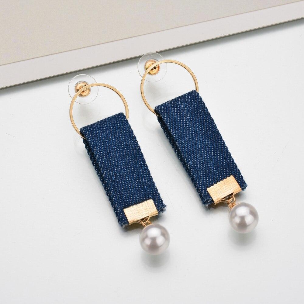 Denim earrings 32