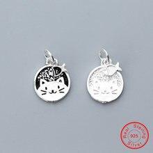 Uqbing прекрасный котенок и рыба амулеты круглая монета 100%