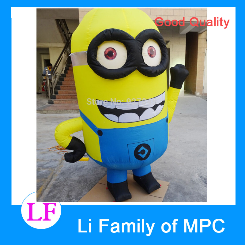 2 M Advertising Figure Despicable Me Advertising Inflatable Minion with blower despicable me unicorn minion stuffed