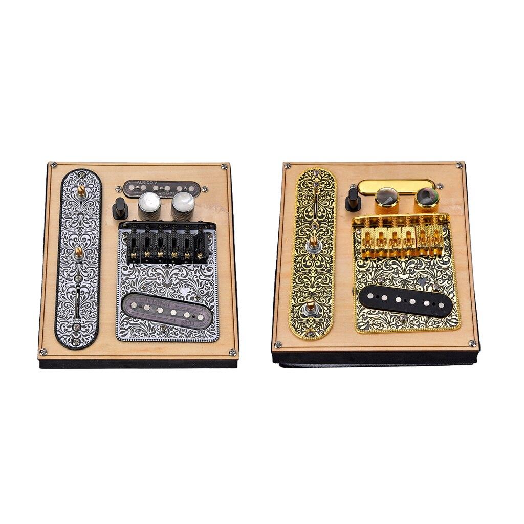 Ensemble de micros de pont et de pont de plaque de commande précâblé à 3 voies pour accessoires de pièces d'instruments de musique télécopiés
