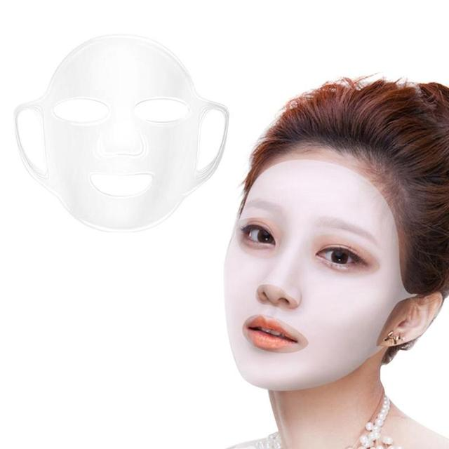 Silicone Face Mask Cover Waterproof Ear Hanging Facial Mask for Preventing Essence Evaporation Moisturizing Skin Care Tool