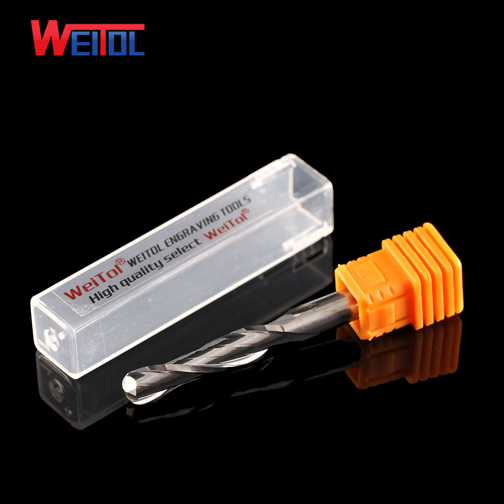 Weito 5A 1pcs 6mm diameter Carbide ball nose end mill two sprial Ball nose milling cnc router bits for Wood and MDF cutting in Milling Cutter from Tools