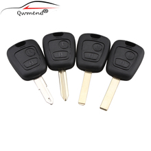 2 кнопки для Citroen C1 C4 для peugeot 106 107 207 307 407 206 306 406 Замена дистанционный ключ чехол в виде ракушки запись Fob