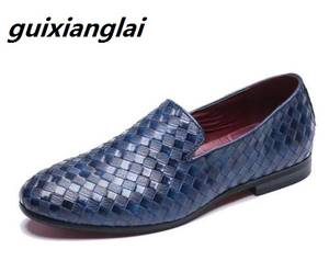 a473d9127a2 Guixianglai Leather Casual Loafers Shoes for Men Flats
