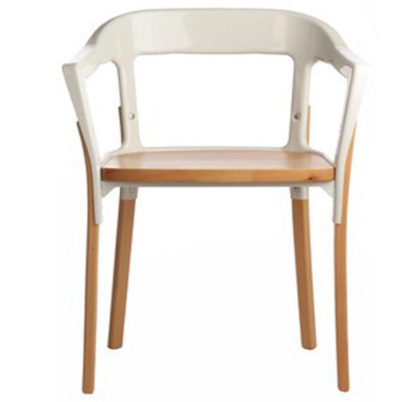 2 X Bouroullec steelwood stoel. eetkamer stoelen. eetkamer meubilair ...