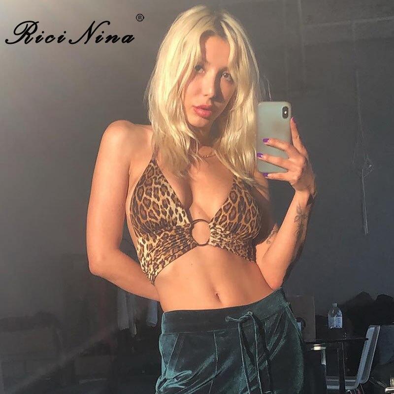 RICININA 2018 Sexy Tops For Women Off Shoulder Sleeveless O Ring Backless Crop Top Woman Short Summer Tank Top Women