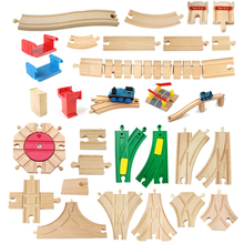 Wooden Train Track Components Beech Train Track Set Children Train Toys Gifts Accessories Compatible with Thomas and Friends p092 free shipping rail connection wood track essential accessories compatible thomas wooden train track children s toys
