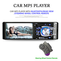 4.1 Inch 1DIN Car MP5 Player Auto Audio Stereo Bluetooth MP3 MP5 Player FM Radio Support Rear View Camera Steering Wheel Control
