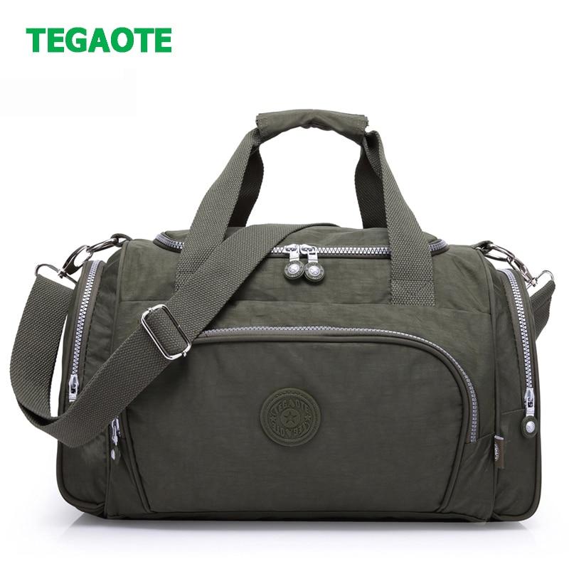 Bolsa de viaje de nailon TEGAOTE de gran capacidad para hombres equipaje de mano bolsas de lona de viaje bolsas de fin de semana de Nylon bolsas de viaje multifuncional para mujeres Pantalla Ultra grande de 3