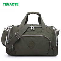 TEGAOTE Nylon Travel Bag Large Capacity Men Hand Luggage Travel Duffle Bags Nylon Weekend Bags Women Multifunctional Travel Bags