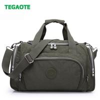 TEGAOTE Nylon Travel Bag Large Capacity Men Hand Luggage Travel Duffle Bags Nylon Weekend Bags Women Multifunctional Travel Bags