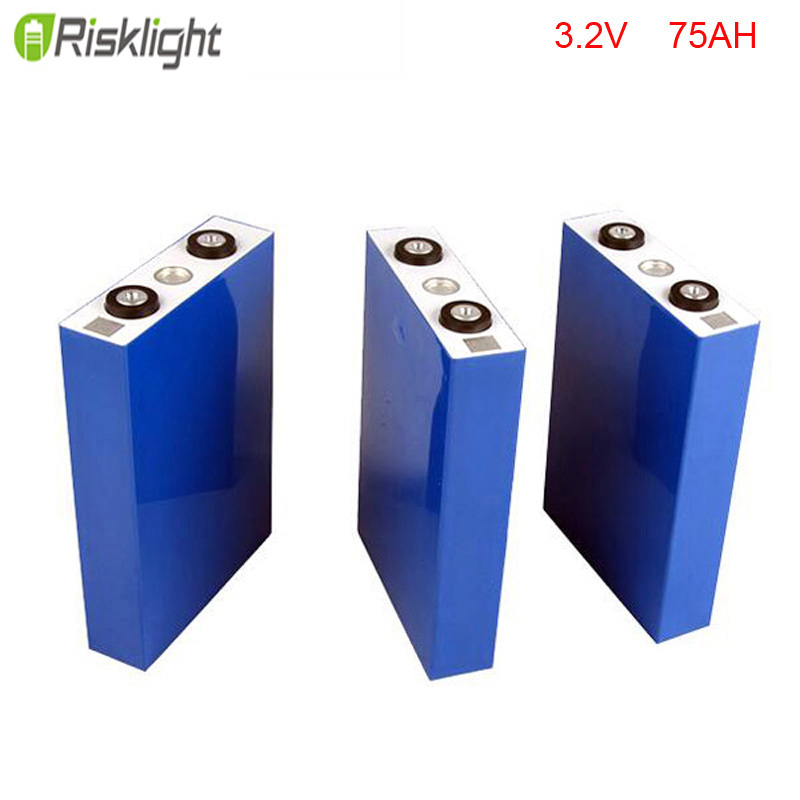 12pcs/lot Lithium Battery Pouch cell 3.2V 75Ah LiFePO4 electric Vehicle/auto car /electric motor