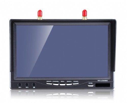 LCD5802 5,8 GHz Diversity Empfänger 7,0 Zoll TFT LCD Mon für FPV 800x480