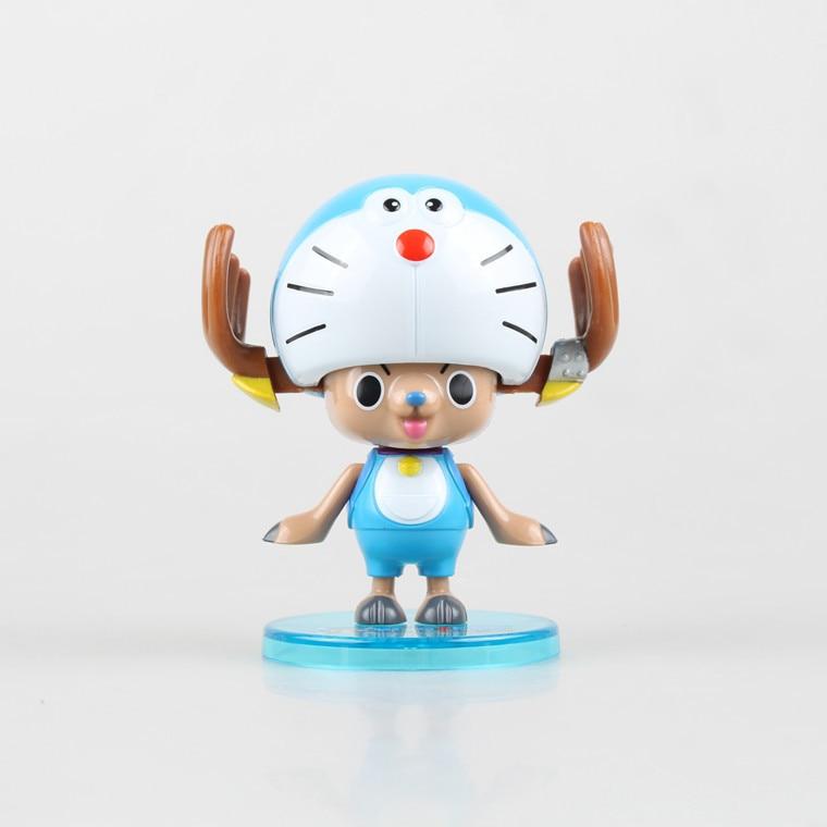 One Piece Action Figure Chopper cos Doraemon Doll PVC ACGN figure Garage Kit Toy Brinquedos Anime 8CM
