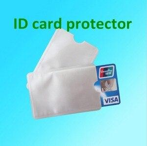 Image 5 - 100ピース/ロット空白アンチセフトrfidクレジットカードプロテクターrfidブロッキング袖アルミ安全シールドホルダー送料無料