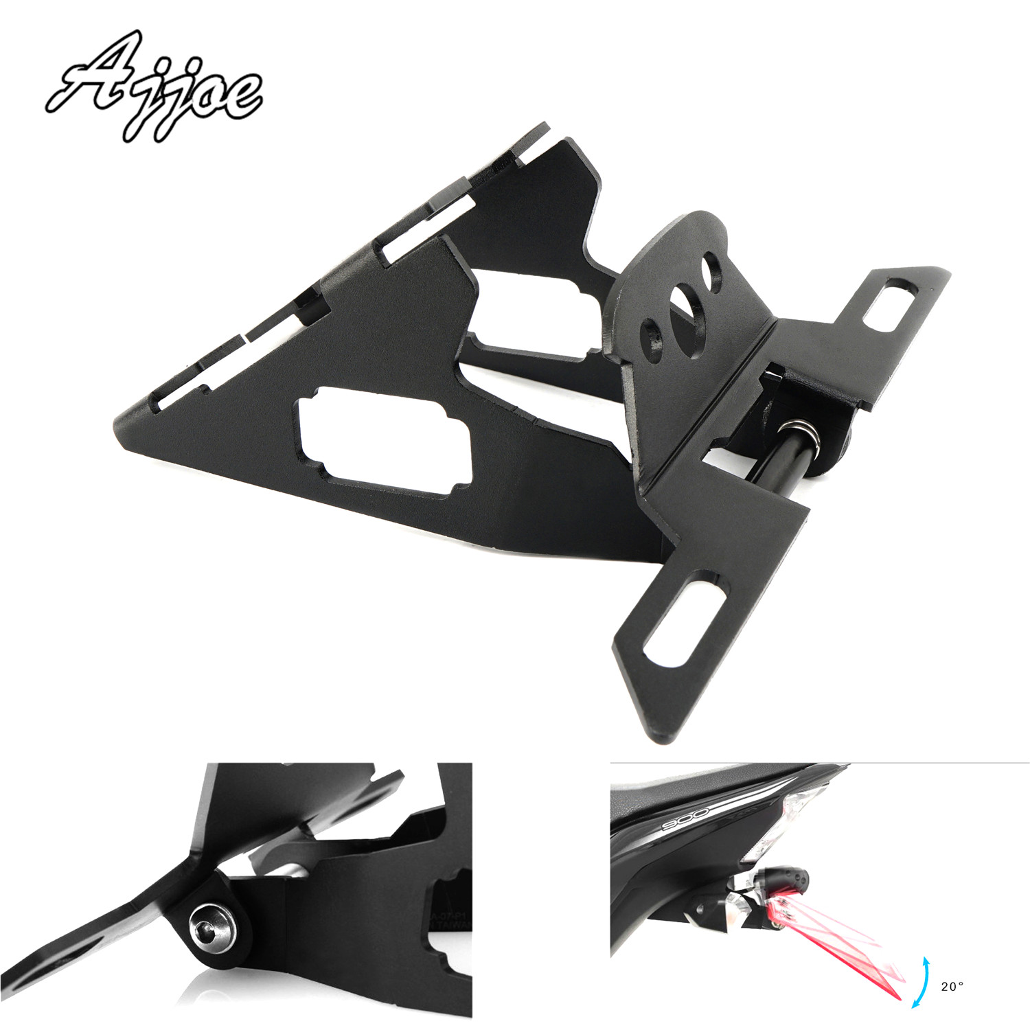 For Kawasaki Z900 2017 2018 Motorcycle Foldable License Plate Holder License Bracket Tail Tidy Fender Eliminator Z 900For Kawasaki Z900 2017 2018 Motorcycle Foldable License Plate Holder License Bracket Tail Tidy Fender Eliminator Z 900