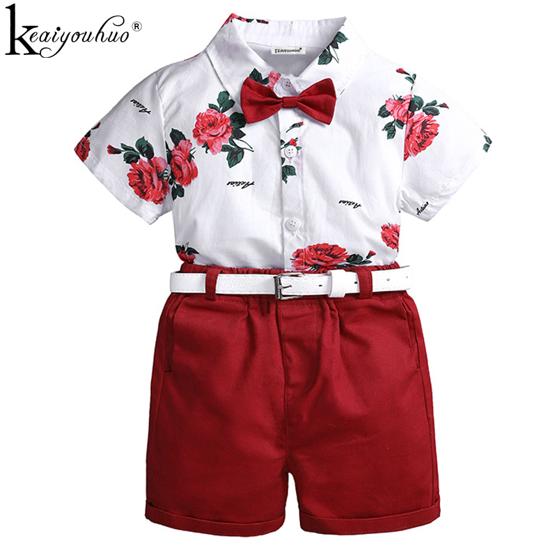 2020 Summer Boys Clothes Sets Toddler Boy Sport Suits Children Clothing Boys Gentleman Costume For Kids Clothes Set 2 4 5 6 Year