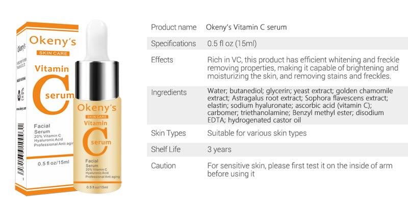 Витамин С Сыворотка VC удаление темных пятен веснушек нестареющий жидкий уход за кожей с сывороткой Отбеливание лица против морщин эссенция красота