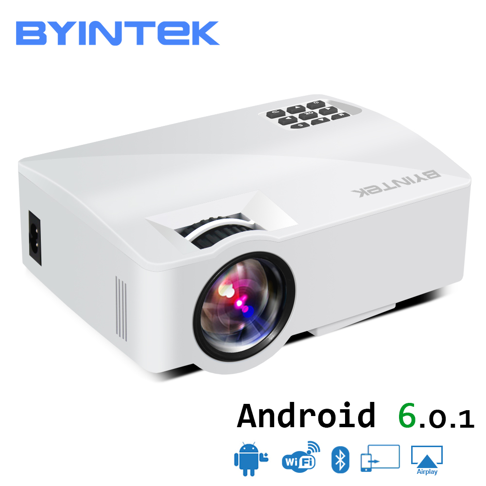 BYINTEK SKY L5 Mini LED Portable Video Projector Proyector Beamer for Home Theater Support Full HD 1080P (Optional Android 6.0) mini pico portable projector hdmi home theater beamer multimedia proyector full hd 1080p video projector