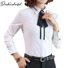 Blusas mujer de moda 2019 roupa feminina chiffon blouse ladies womens tops and blouses white shirt modis camisas bow tie
