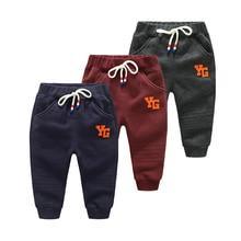 Vinnytido Boy Pants Kids Winter 2017 Children Pant Full Length Cotton Mid Elastic Warm Thick Sweatpants