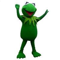 Hot Sale Hot sale Kermit Frog Mascot Costume free shipping Halloween cosplay Cartoon