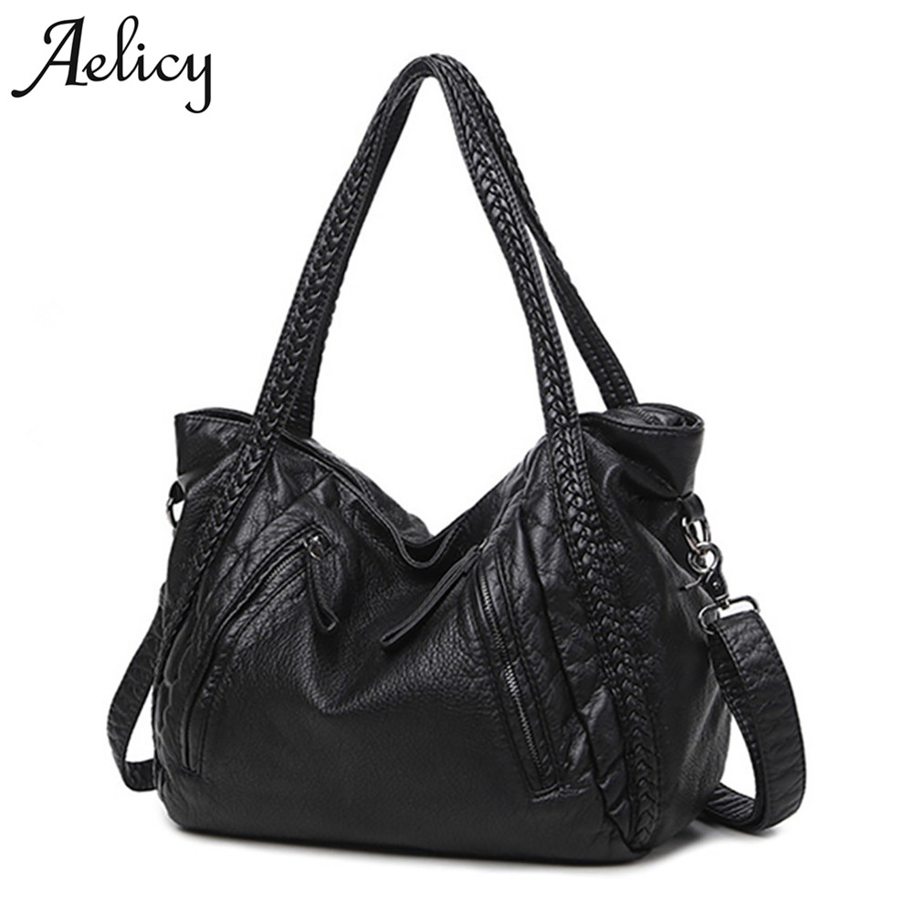 46ef76d5dfc Aelicy 2017 New Large Soft Leather Bag Women Handbags Ladies Crossbody Bags  For Women Shoulder Bags Female Big Tote bolsos mujer